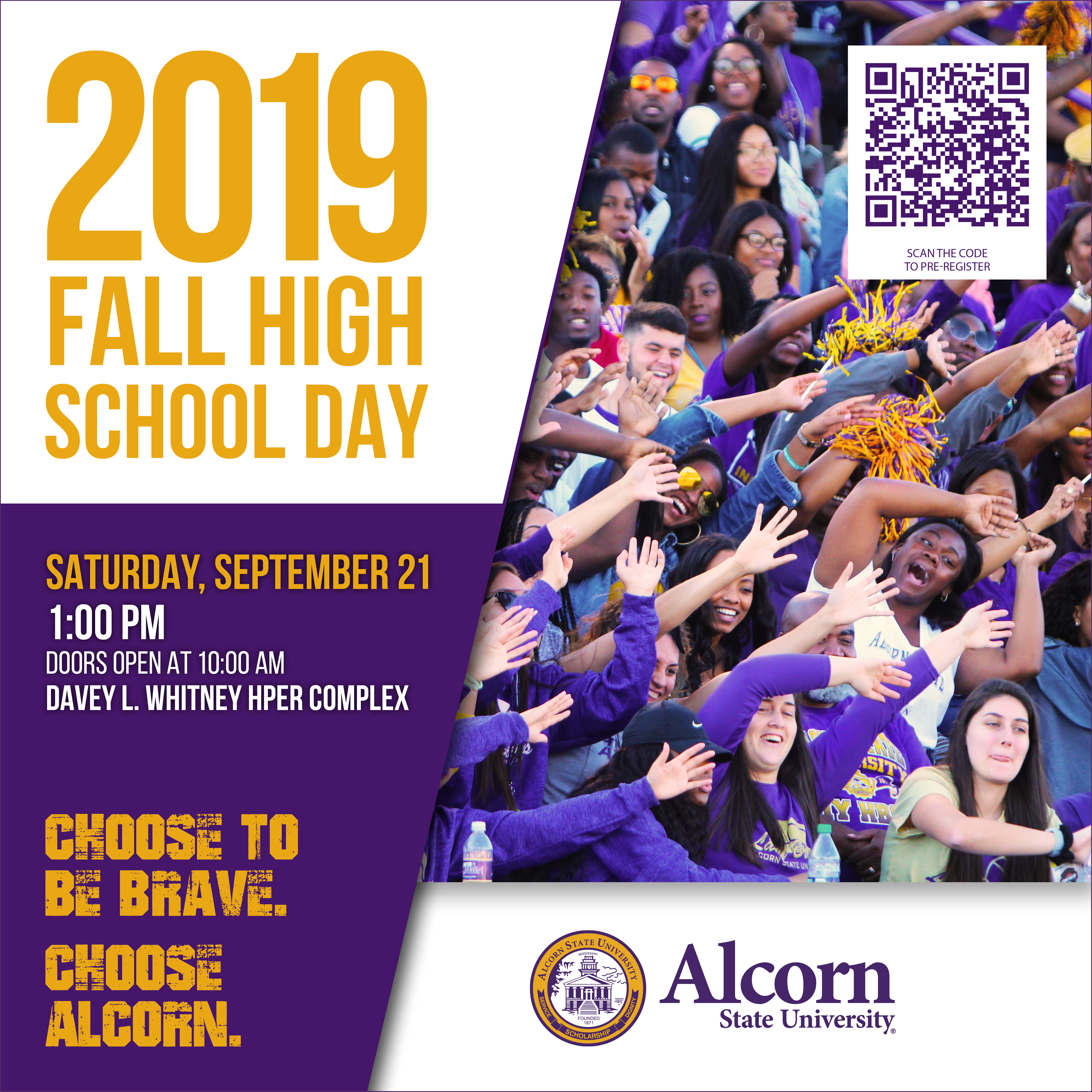 High turnout expected for Alcorn's Fall High School and Community College Transfer Day on Saturday Sept. 21