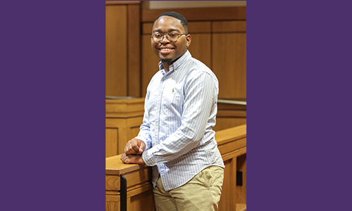 University of Buffalo's summer legal exposure program prepares Sophomore Tra'Keyvion Hale for career in law